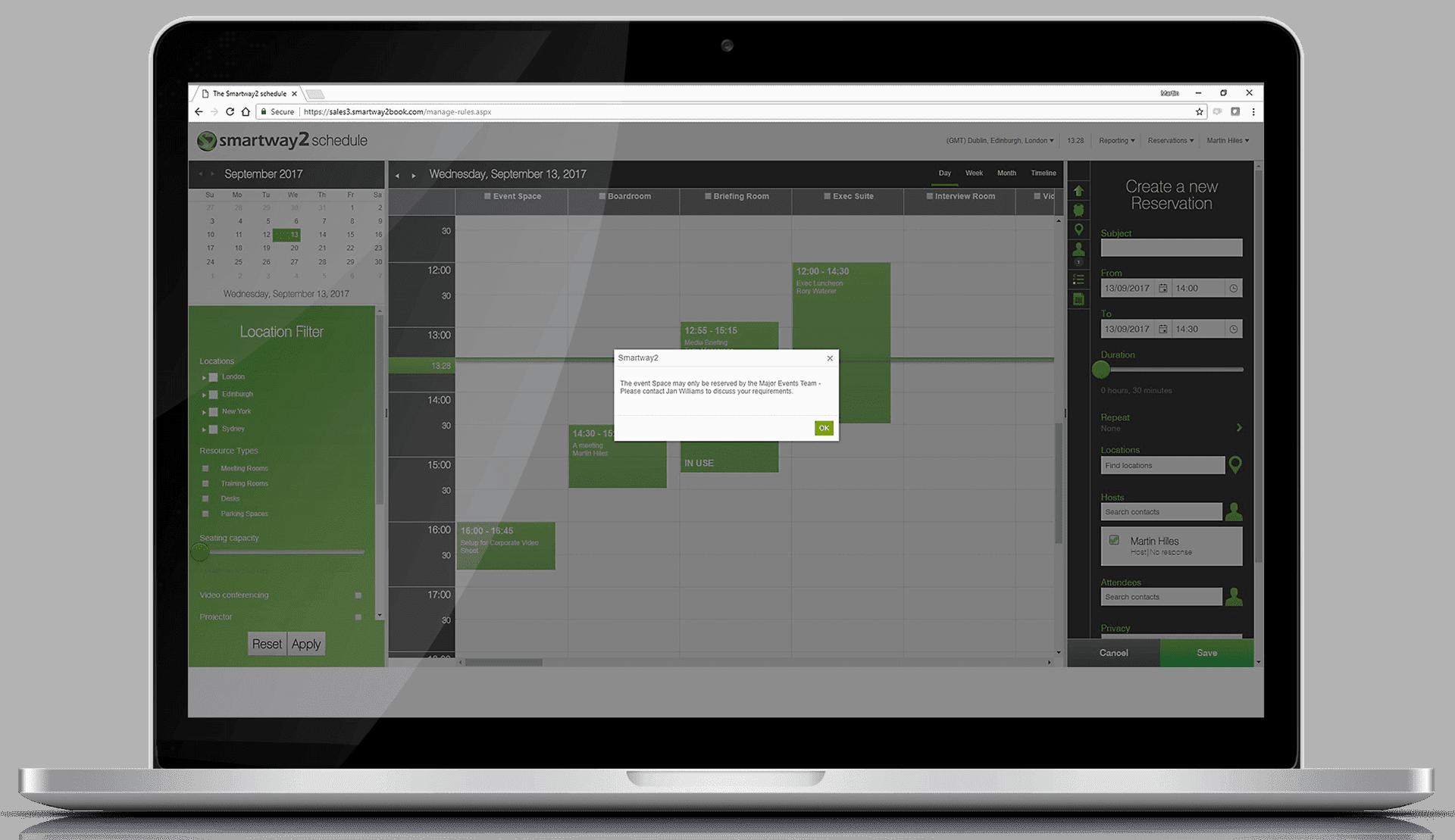 smartway2 room booking app