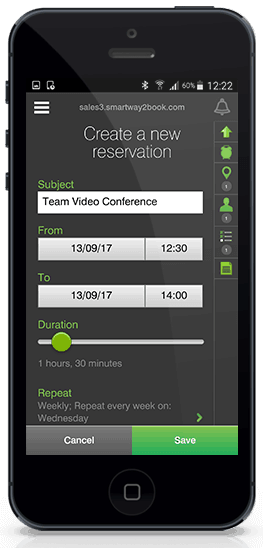 enterprise mobile apps - meeting room booking